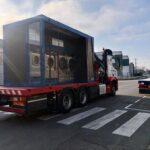 Transgranollers transporta una instalación de lavandería para el Hospital de Sant Pau