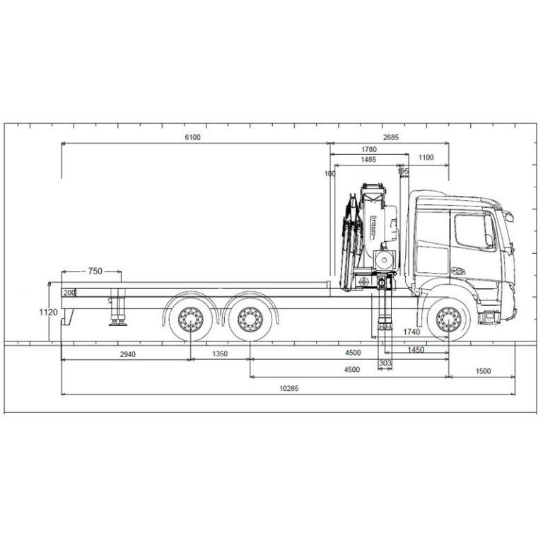 CROQUIS-camion-grua-MERCEDES-BENZ-2636