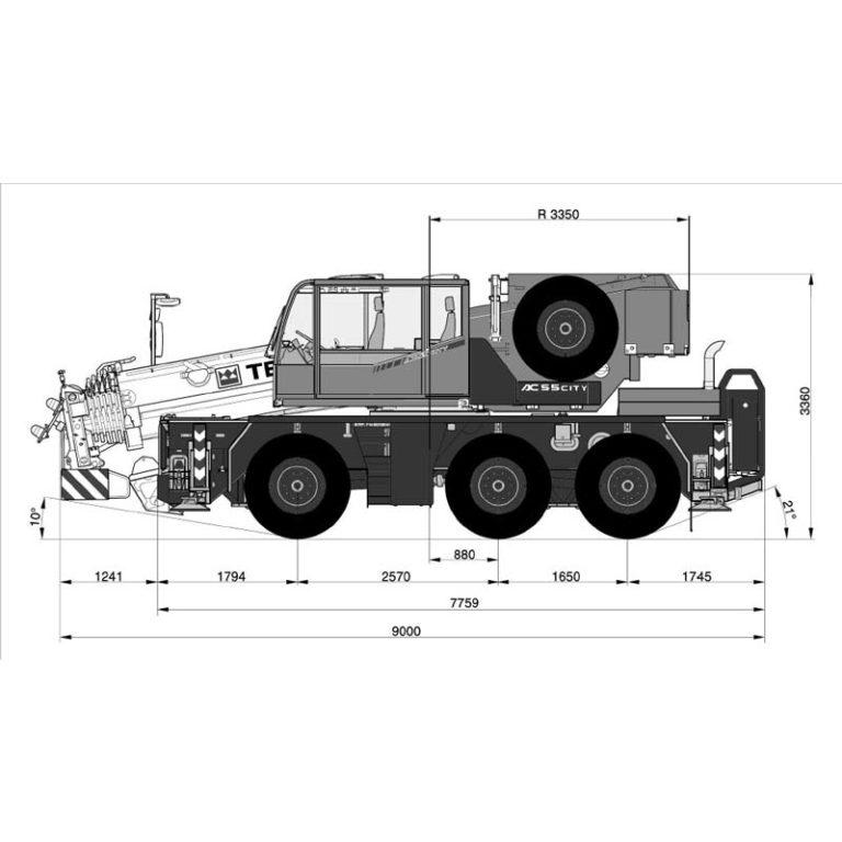 Esquema-Grua-autopropulsada-Demag-City-AC-55