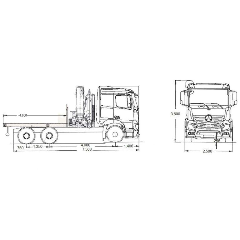 Esquema-Tractora-MERCEDES-BENZ-2651-CON-GRUA-Y-CAJA
