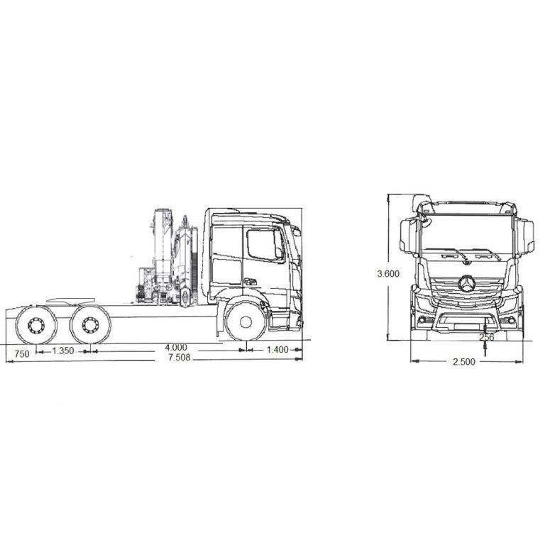 Esquema-Tractora-MERCEDES-BENZ-2651-GRUA