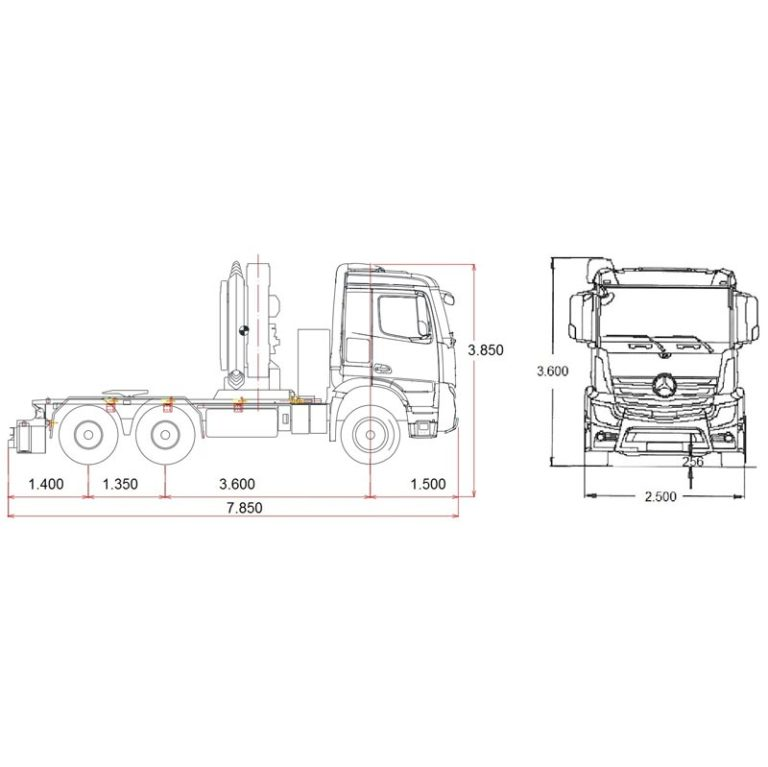 Esquema-Tractora-MERCEDES-BENZ-4063-con-GRUA