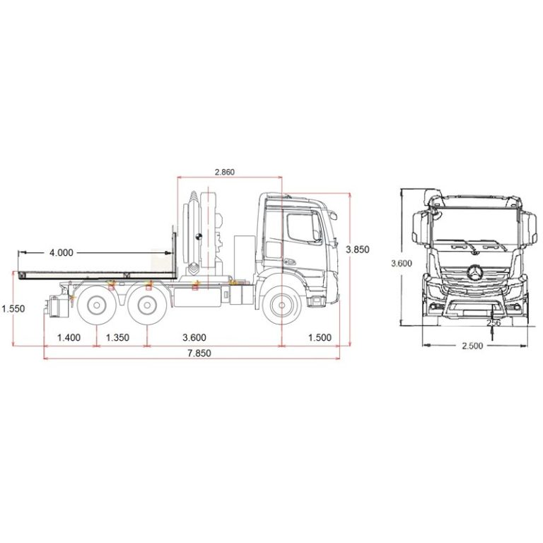 Esquema-Tractora-MERCEDES-BENZ-4063-con-GRUA-y-CAJA