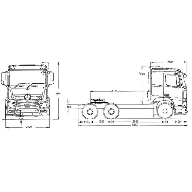 Esquema-Tractora-tranporte-especial-MERCEDES-BENZ-2551