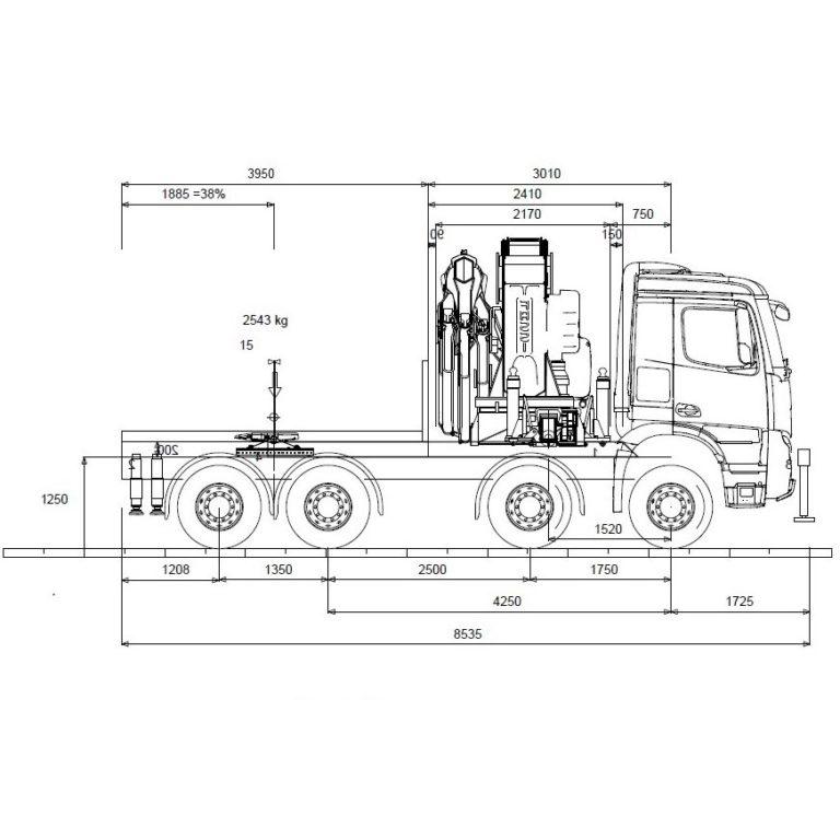 EsquemaTractora-Grua-MERCEDES-BENZ-4151
