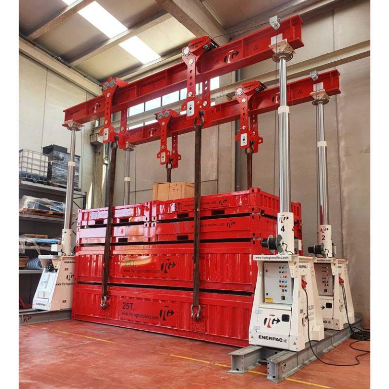 Portico-ENERPAC-250TN-movmiento-maquinaria