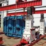 Pórtico LIFT SYSTEMS 450 Tn para carga de maquinaria