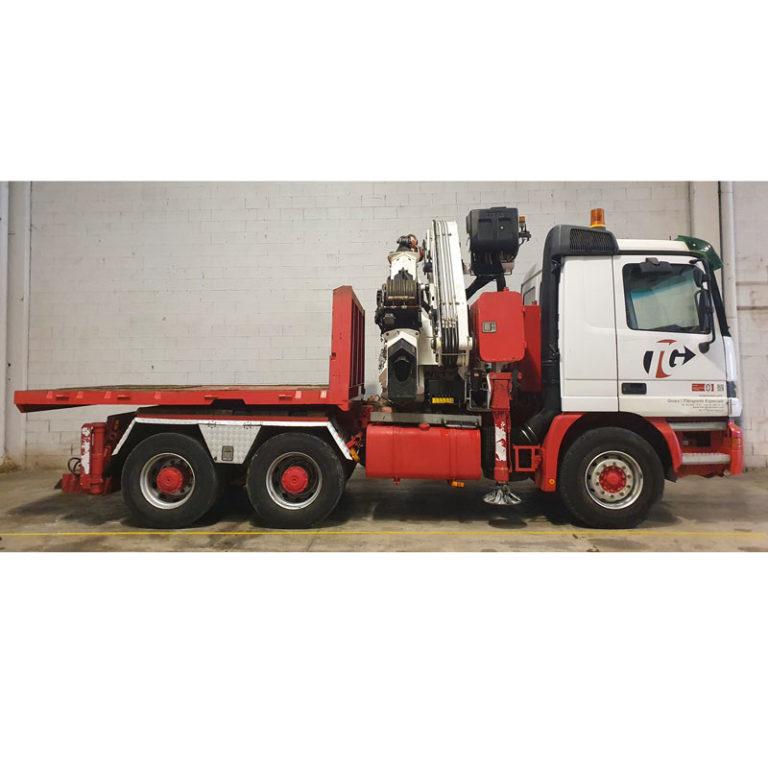 Transportes especiales por carretera grúa MERCEDES BENZ 2348