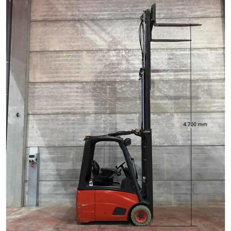 Altura Carretilla Elevadora E16 transporte de maquinaria