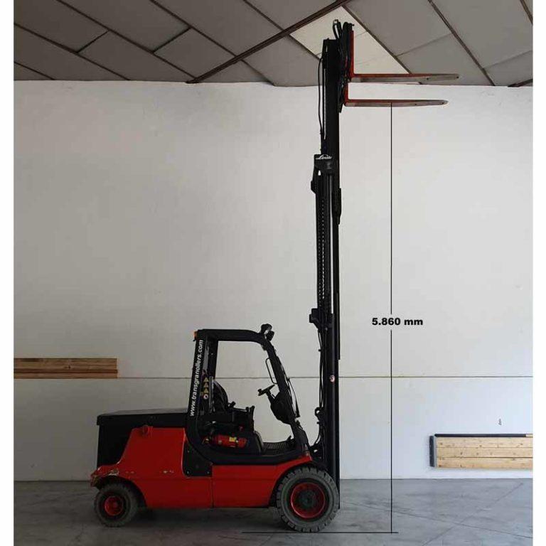 Carretilla Elevadora E48 transporte de maquinaria alto