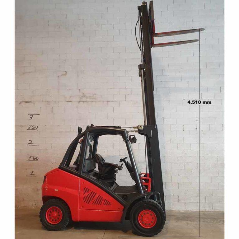 Carretilla Elevadora H50 D transporte especial alto