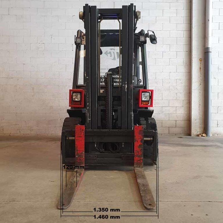 Carretilla Elevadora H50 D transporte especial delante