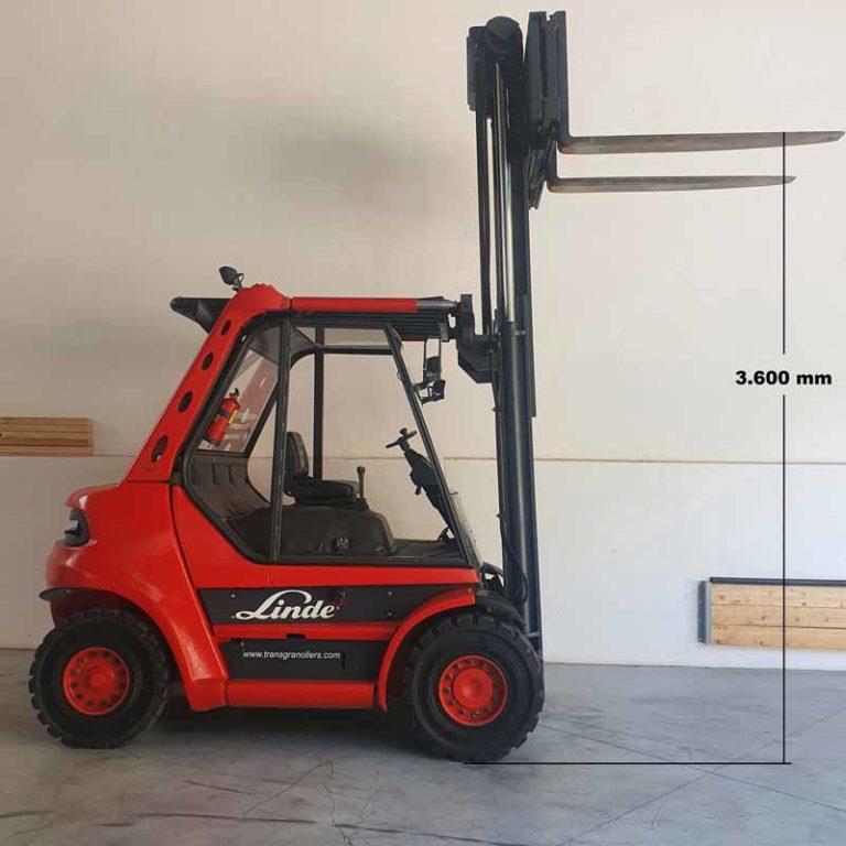 Carretilla Elevadora H70 Púas Largas transporte especial altura