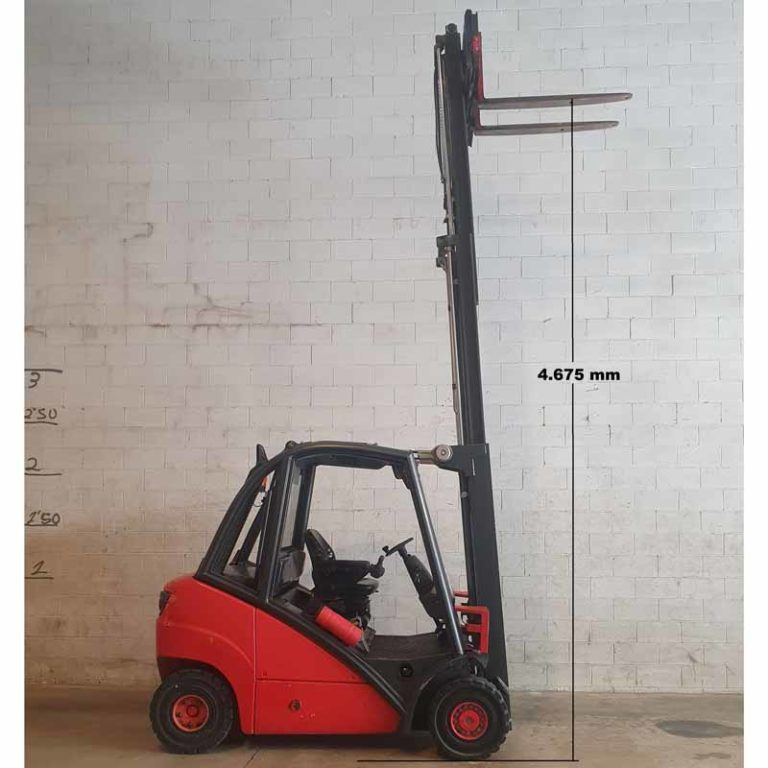 Carretilla Elevadora H25 D transporte especialalto