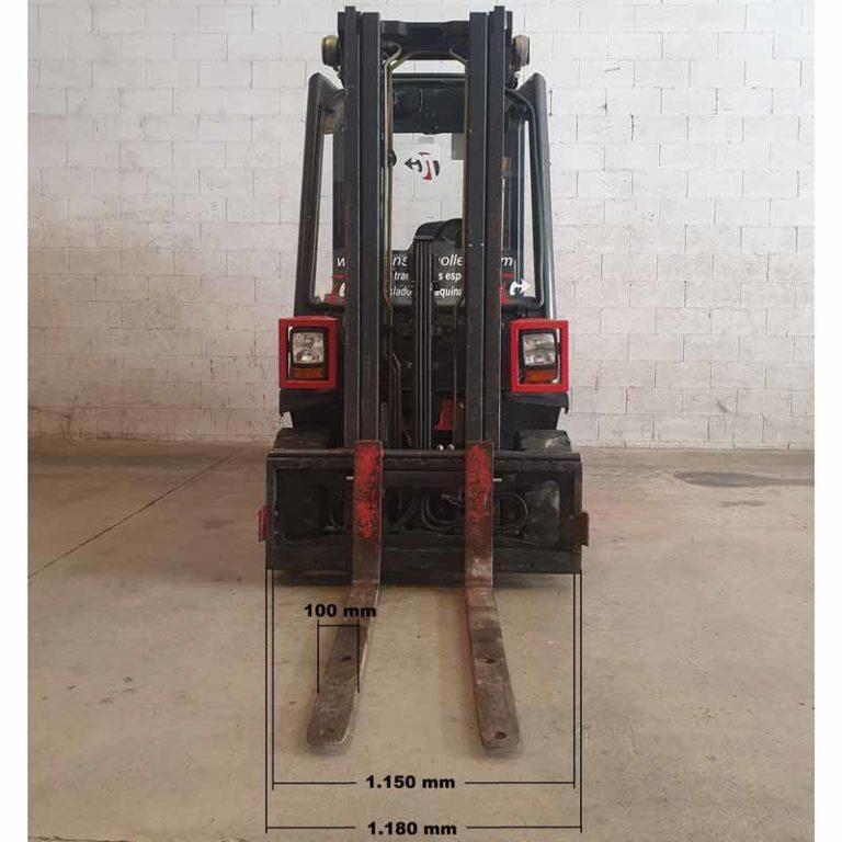 Carretilla Elevadora H25 D transporte especial delante