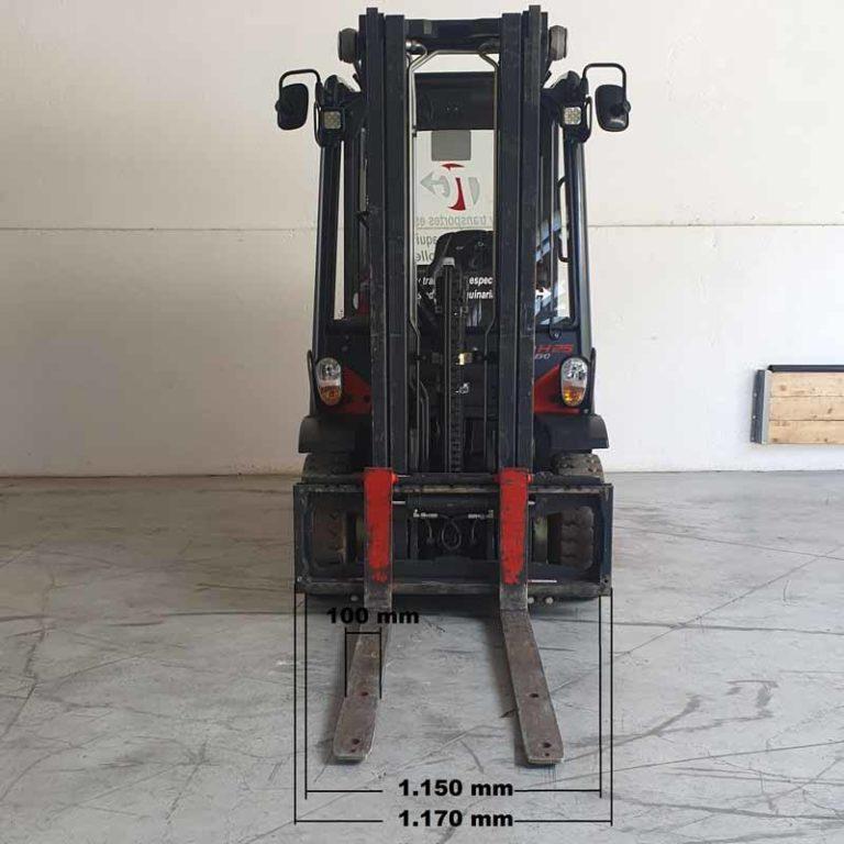Carretilla Elevadora H25 Evo transporte especial delante
