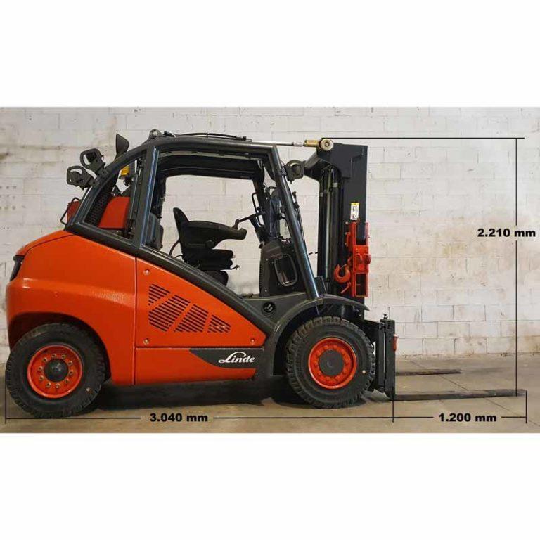 Carretilla Elevadora H50 Evo transporte especial lado