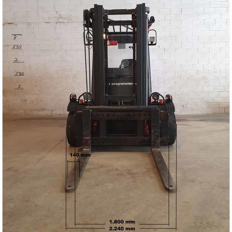 Carretilla Elevadora H70 D transporte especial delante