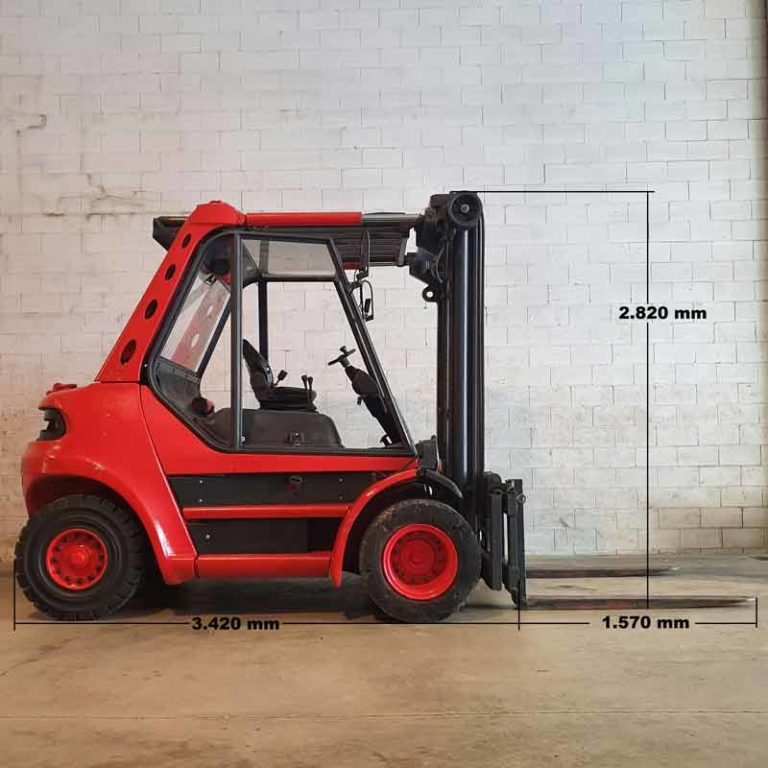Carretilla Elevadora H70 D transporte especial lado