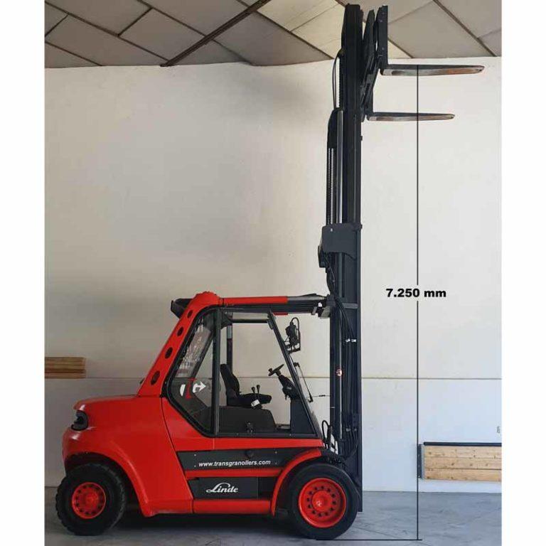Carretilla Elevadora H80 D Pro Mástil transporte especial altura