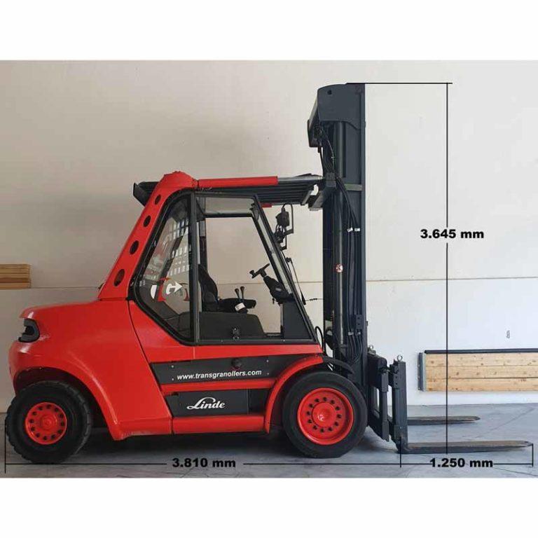 Carretilla Elevadora H80 D Pro Mástil transporte especial lado