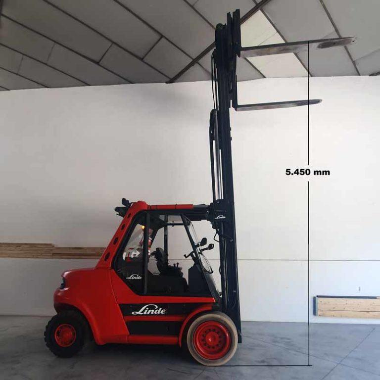 Carretilla Elevadora H80 D Púas Largas transporte especial altura