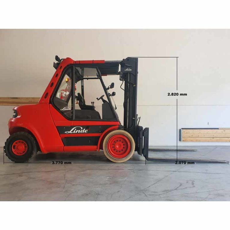 Carretilla Elevadora H80 D Púas Largas transporte especial lado
