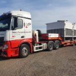 Transporte de maquinaria de dimensiones especiales a Galicia