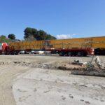 Transporte especial por carretera de material de elevación
