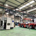 Transgranollers se encarga del movimiento de maquinaria pesada en una nave industrial