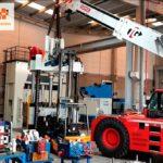 Movimiento de maquinaria industrial de 31 toneladas