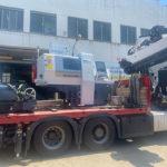 Transporte de maquinaria industrial: torno de 3450 kg